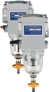 The Separ 2000 is a water separator and diesel fuel filter equipped to accommodate today's engines. Five separate stages of filtration ensure 99.9% water separation at max flow rate. The Series 2000 is designed to reduce wear on fuel pumps and ensure full RPM's for the most modern diesel engines. The unique back flushing capability significantly extends filter change intervals reducing down time and filter element cost. Nilsson Shipping offers a wide range of fittings to allow connection of your equipment to this filter – please ask for more details.