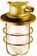 Fixtures for lower deck, cylindrical glass globe and wire guard
